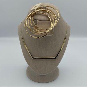 Gold Necklace & Bracelet Set